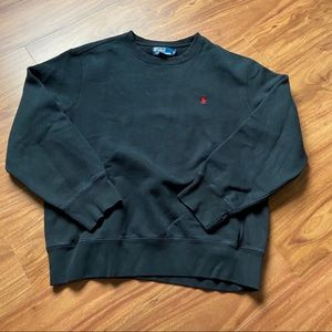 Vintage black polo Ralph Lauren sweatshirt
